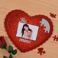 Be Mine Personalizado Heart Shape Puzzle