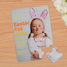 Rompecabezas como invitaciones de Pascuas personalizadas