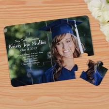 Rompecabezas personlizado como invitación a al graduación