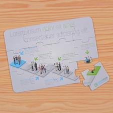 Rompecabezas como invitaciones empresariales personalizados