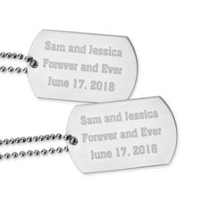 Colgante de la placa de identificación con mensaje de amor grabado