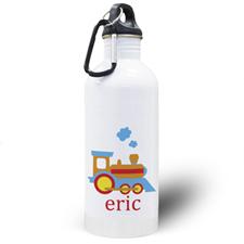 Botella de agua personalizada de tren con foto
