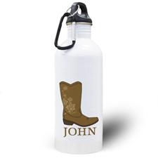 Botella de agua personalizada con foto de la bota