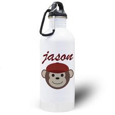 Botella de agua personalizada con del chico mono