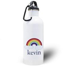 Botella de agua personalizada de arco iris con foto