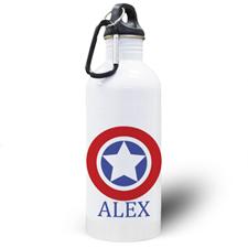 Botella de agua personalizada de estrella con foto