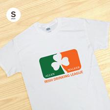 Personalizado Irish Drinking League, camiseta blanca