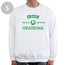 Diseña tu propia sudadera de la abuela irlandesa, blanca