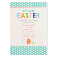 Create Your Own Easter Party Invitation Personalized Photo Card 5X7