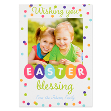 Create Your Own Easter Blessing Personalized Photo Card 5X7