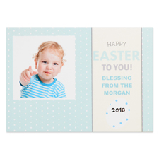 Create Your Own Happy Easter To You Personalized Photo Card 5X7