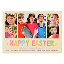 Create Your Own Easter Frame Personalized Photo Card 5X7
