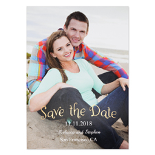 Create Your Own Foil Natural Shine Personalized Photo Save The Date Card