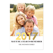 Create Your Own Foil Gold Personalized Photo New Year Card Card Invites