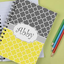 Personalized Lemon Grey Clover Notebook