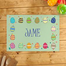 Alfombrillas de huevo de Pascua personalizadas para niños