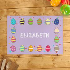 Alfombrillas de huevos de Pascua personalizadas para niñas