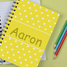 Personalized Lemon Dots Notebook