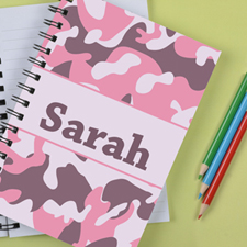 Personalized Camo Pink Notebook