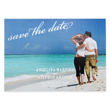 Create Your Own Flourish Foil Silver Personalized Wedding Save The Date Card Card Invites