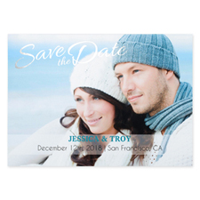 Create Your Own Charmed Foil Silver Personalized Wedding Save The Date Card Card Invites