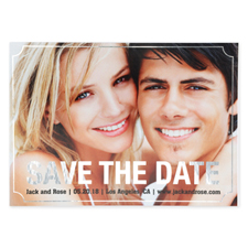 Elegant Foil Silver Personalized Photo Save The Date Card Cards