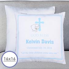 Almohada personalizada para el bautizo de niños Funda de almohada 40.64 cm x 40.64 cm (sin relleno)