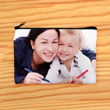 Bolsa cosmética con fotografía personalizada misma fotografía por cada lado