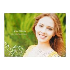 Foil Silver Refined Graduation Personalized Photo Graduation Announcement Cards