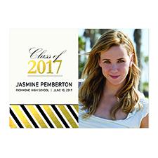 Foil Gold Deco Graduate Personalized Photo Graduation Announcement Cards