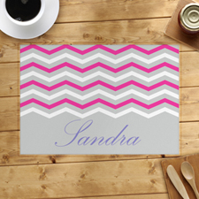 Grey blanco rosado symbols Personalized Placemat