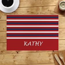 Alfombrilla personalizada de la franja roja y blanca de la Marina