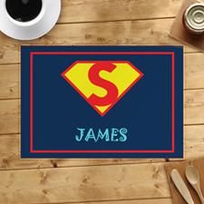 Alfombrilla personalizada para el niño superhéroe