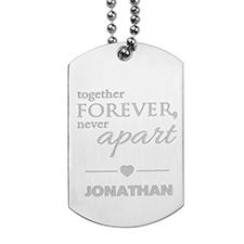 Colgante de mensaje grabado Juntos para siempre