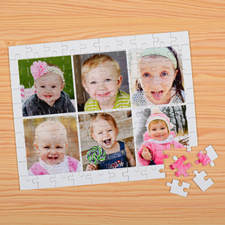 Personalized Kids Six Collage Puzzles