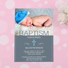 Baptism Honoring Personalized Invitation Card Cards