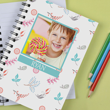 Personalized Cute Floral Notebook