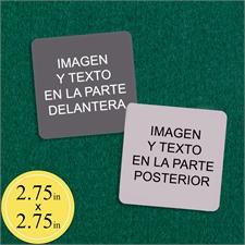 6.99 cm X 6.99 cmNaipes personalizables (Cartas en blanco)