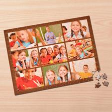 Personalizado Brown 9 colage 30.48 cm x 41.91 cm Photo Puzzle