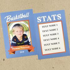 Juego de 12 tarjetas de baloncesto personalizado azul