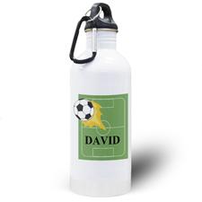 Botella de agua personalizada de fútbol para niños