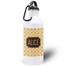 Botella de agua personalizada con Trébol Naranja