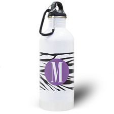 Botella de agua personalizada de impresión de cebra