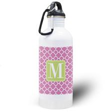 Botella de agua personalizada con Trébol color Fucsia
