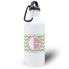 Botella de agua personalizada con símbolos color limón