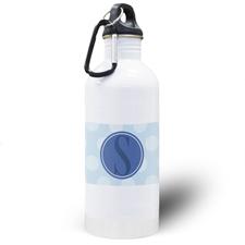 Botella de agua personalizada de lunares azules