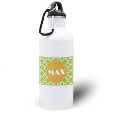 Botella de agua personalizada con Trébol de Lima