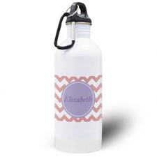 Botella de agua personalizada con símbolos villancico