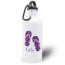 Botella de agua personalizada con Chancletas
