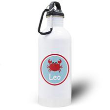 Botella de agua personalizada para niños con cangrejo
